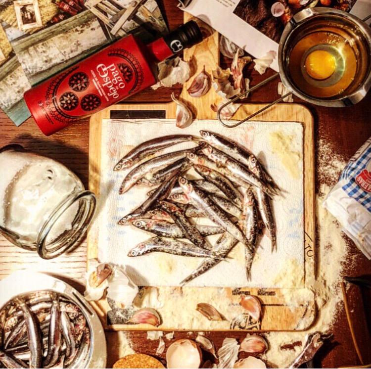 pescaito frito aceite