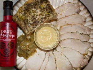Lomo de cerdo al horno con aceite de oliva virgen extra