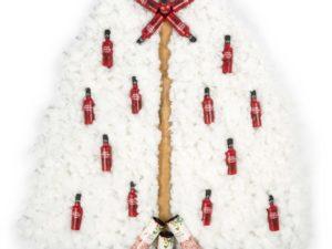 Árbol de Navidad blanco y original, hecho con guata