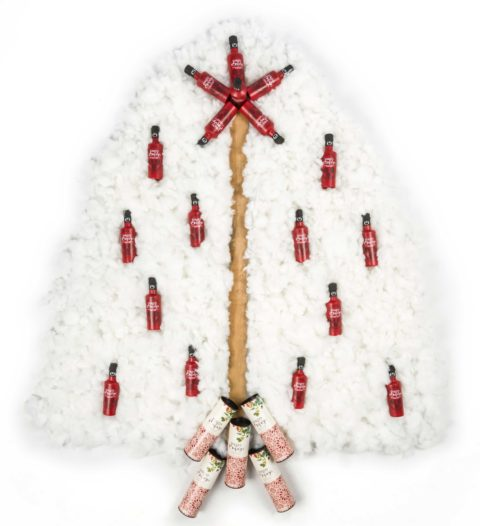 arbol navidad con botellas